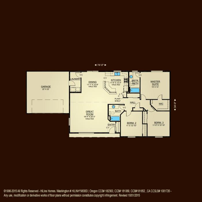Hiline homes floor plans 28 images amazing lexar homes for Hiline homes plans