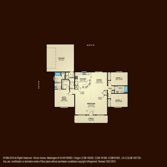 Floorplan 1780 hiline homes for Hiline homes floor plans