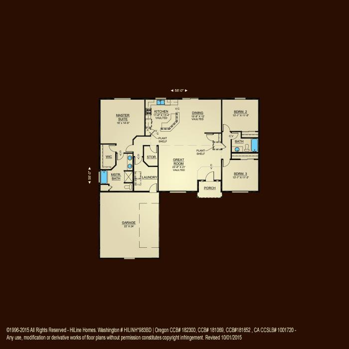 Floorplan 1940 Hiline Homes