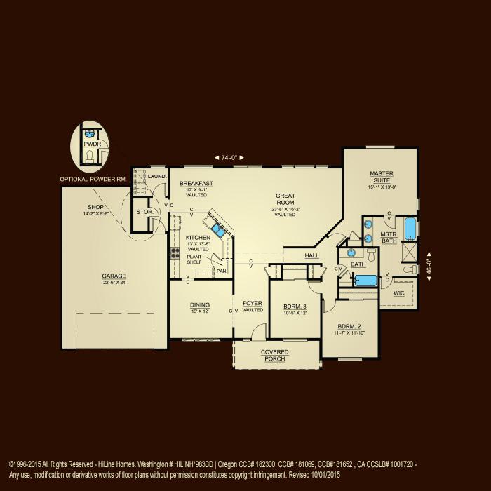 Floorplan 2042 hiline homes for Hiline homes plans