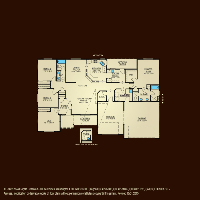 Hiline homes floor plans oregon for Oregon floor