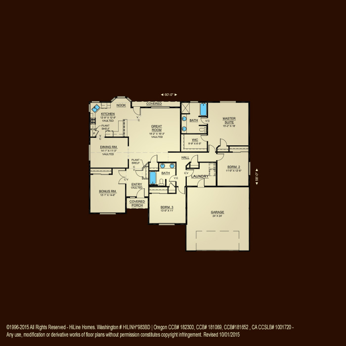 Floorplan 2270 hiline homes for Hiline homes floor plans