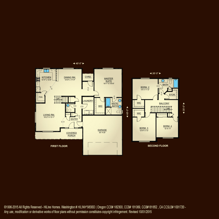 Floorplan 2302 hiline homes for Hiline homes floor plans