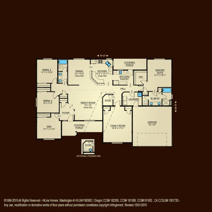 Floorplan 2576 hiline homes for Hiline homes plans