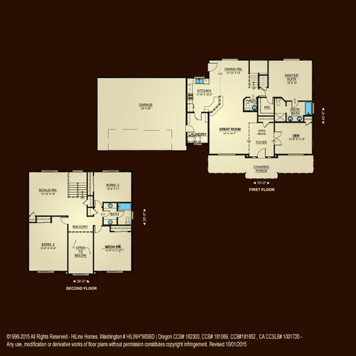 Floorplan 2686 hiline homes for Hiline homes plans