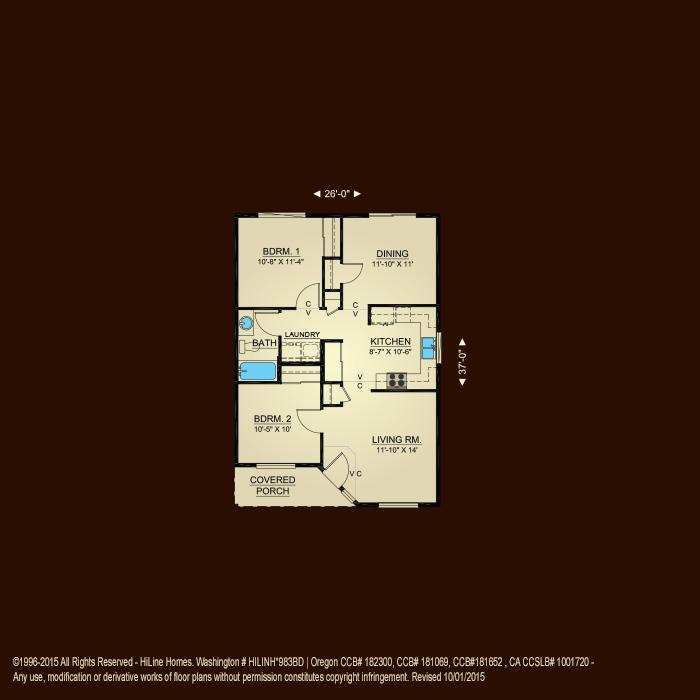 Floorplan 897 hiline homes for Hiline homes floor plans