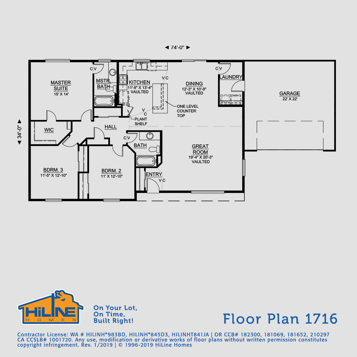 Floorplan 1716   HiLine Homes on counter cartoon, counter application, counter animation, counter display, counter sign, counter flow,