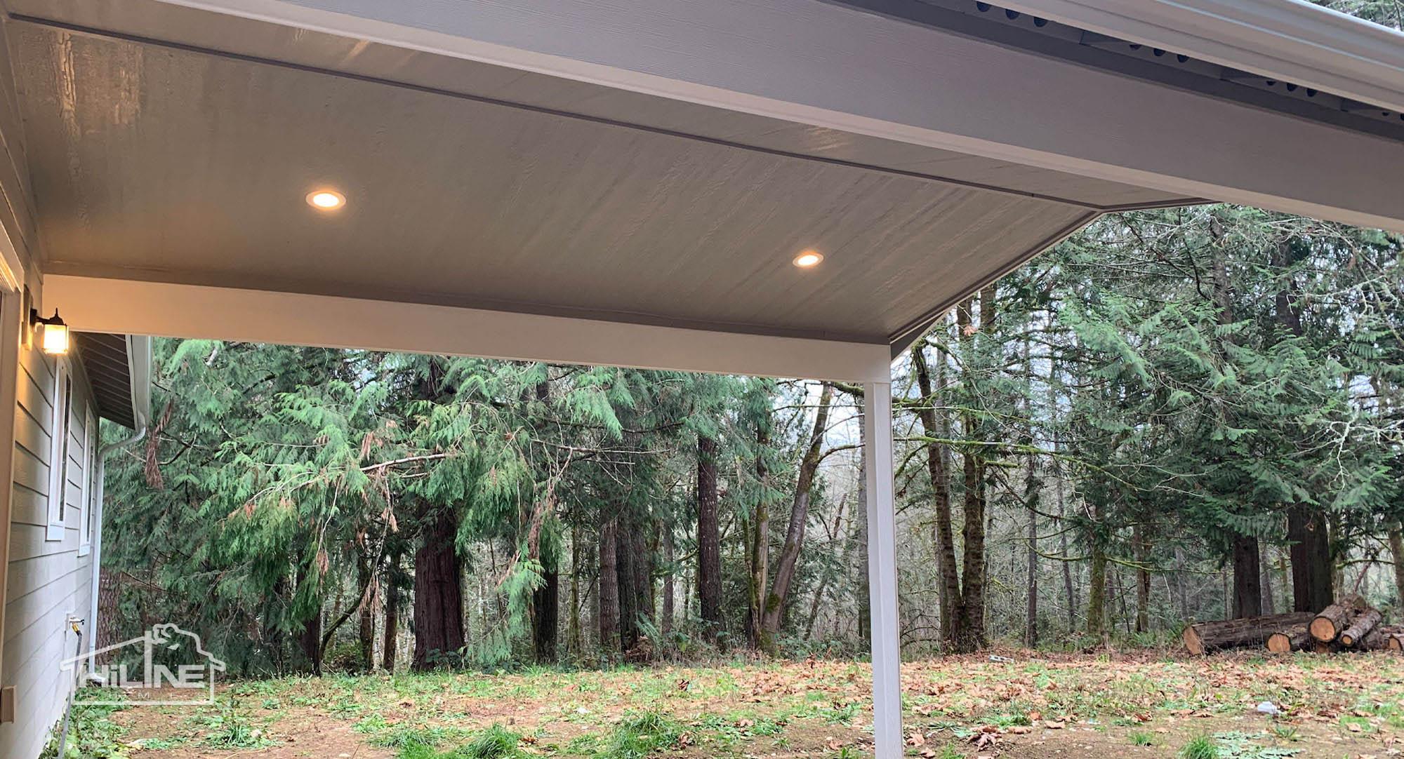 HiLine Home Plan 1491 Rear Exterior