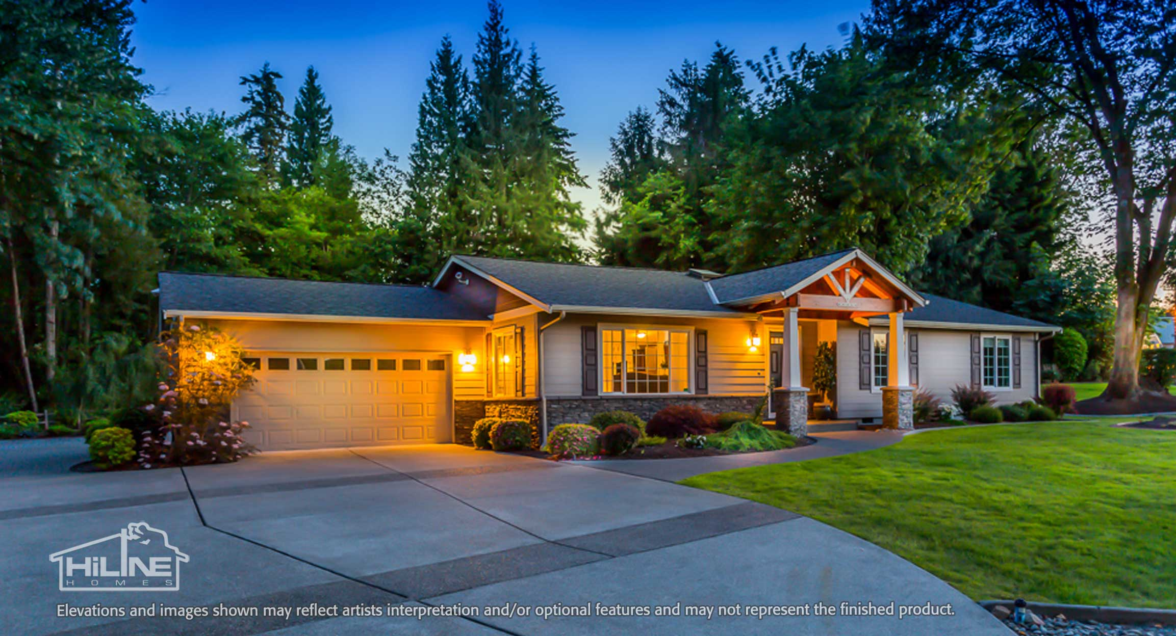 Image of Puyallup Model Home Front Exterior Enhanced
