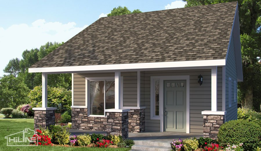Home Plan 500B Upgrade Rendering